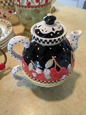 Vintage Mary Engelbreit 1998 Stacked Tea Pot and Cup Ceramic