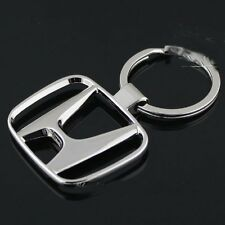 Honda Logo Keychain Keyring Stainless Chrome Civic Accord Emblem Metal New