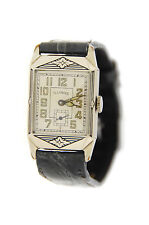 Illinois Finalist Deco Cal 207 14K White Gold Filled Watch