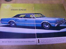 Original 1966 Oldsmobile Cutlass Supreme 2-Page Magazine Ad