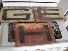 Original GEHL Machinery Dealer 3 Piece Metal Sign