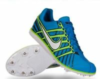 NIKE ZOOM RIVAL D 6 Blue Green Mid Long Distance Track Spike Shoes NEW Mens 12.5
