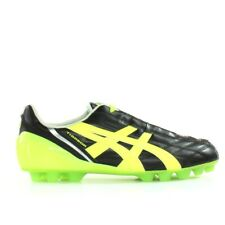 Asics Tigreor IT Black Leather Mens Lace Up Football Boots PJ408 9007
