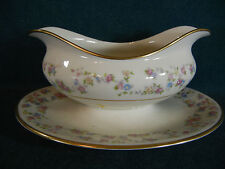 Lamberton Reverie Gravy Boat with Attached Under Plate