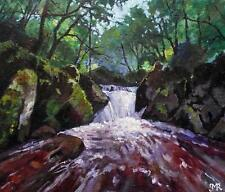 Original Impressionist Painting by Melanie Reynoso : The Forest Falls