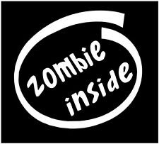 Zombie inside decal, zombie inside sticker, zombie outbreak decals