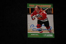 HOF BOBBY HULL 2012-13 PANINI SCORE THE FRANCHISE SIGNED AUTOGRAPHED CARD #OS6
