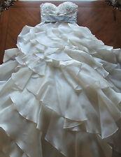 Jim Hjelm Designer Wedding Dress / Size 2 / Worn For Ceremony Only / #8962