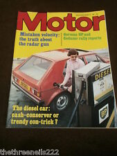 MOTOR MAGAZINE - TRUTH ABOUT THE RADAR GUN - AUG 8 1981