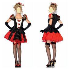 Alice in wonderland Queen of Heart Ladies Women Fancy Dress Costume 8-10