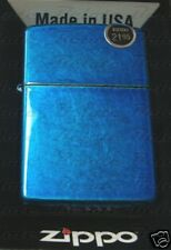 Zippo Cerulean Blue Lighter Model 24534 **NEW in BOX**