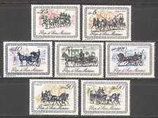 San MARINO 1969 Cavallo/carrozze/trasporto 7 V Set n23441