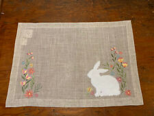 Spring Meadow Embroidered Placemat