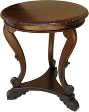 Round Table Solid Mahogany Reproduction Lamp Table H65 x W60 x D60cm