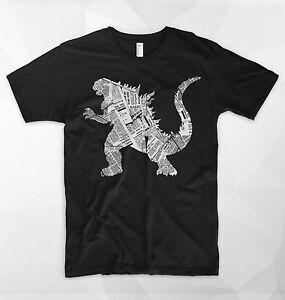 Godzilla T Shirt Japan Tokyo King Of The Monsters Poster Newspaper New York