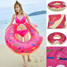 120CM Inflatable Swim Ring Giant Bite Shaped Donut Swimming Pool Water Float