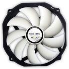 Gelid Solutions Silent 14 Pro PWM, 140mm 14cm Quiet Case Fan, 80.6 CFM Airflow