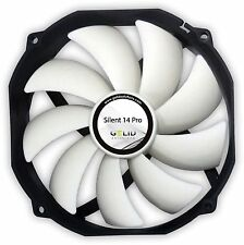 Gelid Solutions Silent 14 Pro PWM, 140mm 14cm Case Fan Quiet, 80.6 CFM el flujo de aire