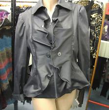 Joseph Ribkoff BNWT UK 12 Stunning Silver Taffeta Coat Jacket US 10 DIVINE