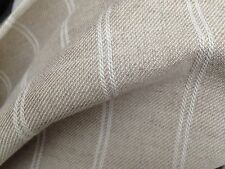 4 Metres Laura Ashley Linen Stripe in Natural Fabric Curtain Fabric Off The Roll