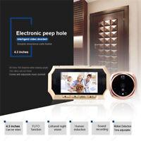 """4.3"""" Screen Digital 160° Peephole Viewer Door Eye Doorbell Night Vision Camera"""