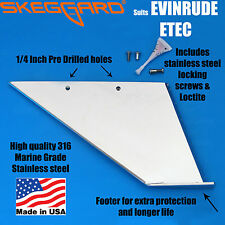 "JOHNSON/EVINRUDE 150-200HP ETEC (20"" Shaft) Skeg Guard, Skeg Protector,USA MADE"