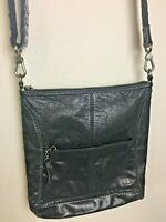 The Sak $119 Lucia Leather Crossbody Shoulder Handbag Black Embroidered Strap