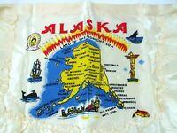 Vintage ALASKA Souvenir APRON Scenic Historical Landmarks