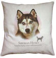 Siberian Husky Dog | 100% Cotton Cushion Cover Zip | Howard Robinson | Gift