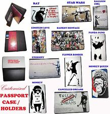 Banksy Inspired Balloon Girl Einstein Design travel Passport Leather Case Cover