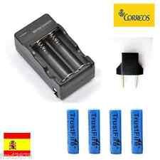 CARGADOR PILAS RECARGABLES Li-ion 2X 14500 AA + 4X pila 900mAh 3,6V 3,7V litio