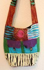 Boho gitano Vintage Chic Indian Handmade Algodón Bolso para el Hombro-estilo étnico hippy/