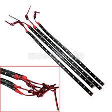 4X Tira 15 LED Luz Rojo Impermeable Decoración para Barco Coche Navidad 30*1cm