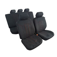 New Velour Car Seat Covers 11pcs Universal Airbag Safe Fit vw Toyota Honda