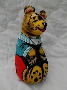VINTAGE DEANS RAG BOOK CHARACTER TOY DOLL~TEDDY BEAR~KNOCKABOUT RAG DOLL
