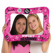 "23"" Classic Sweet 16 16th Birthday Party Inflatable Balloon Photo  Frame Prop"