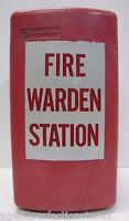WESTERN ELECTRIC FIRE WARDEN STATION Old Retired Metal Telephone Box BELL SYSTEM
