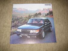 1984 Saab 900, 900S, 900 Turbo USA Prospekt Brochure, 8 Seiten