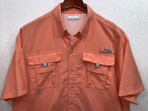 Colombia PFG Fishing Shirt, Size M, Vented Pale Orange Omni Shade