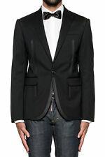 BNWT Mens Dsquared2 Black Stretch Wool Blazer Evening Jacket Suit UK 38 M £1195