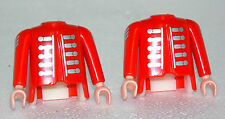 2 x KÖRPER + ARME + INLET HUSAR PLAYMOBIL ROTROCK 5580 ACW GARDE ENGLÄNDER 1038