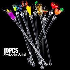 10Pcs Cocktail Drink Juice Stirrers Stir Stirring Swizzle Sticks Bar Kitchen