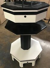 Nail Dryer Table Station Manicure Pedicure Salon Furniture Black Marble Top