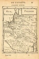POLISH-LITHUANIAN COMMONWEALTH. Poland Belarus. Towns & rivers. MALLET 1683 map