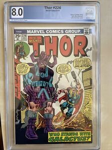 Thor #226. Second Fire-Lord. Galactus. PGX 8.0 VF OW/W pages!