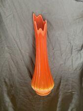Mid Century Slag Vase White Yellow and Orange 1970/'s Retro Decor