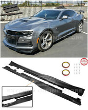 For 16-Up Camaro RS & SS | ZL1 Style CARBON FIBER Side Skirts Rocker Panels Pair
