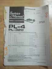 Pioneer Service Manual for the PL-4 PL-320 Turntable ~ mp
