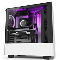 NZXT H510i White RGB ATX Mid Tower Tempered Glass Gaming Desktop Computer Case B