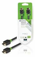 Konig High Speed HDMI Cable with Ethernet HDMI to HDMI Connector 0.50m grey